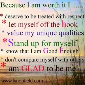 Because I Am Worth It...