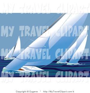 Sailboats Sailing Sparkling