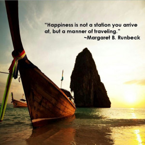 Happiness Is not A Station