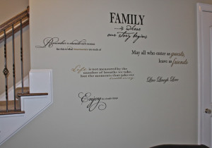 Quote Wall contemporary-living-room