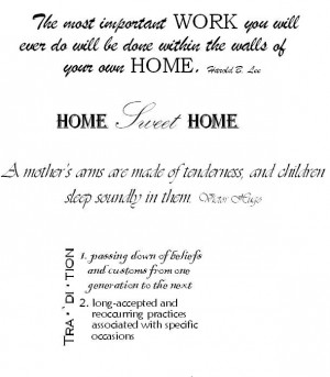 quotes | Home and Family Scrapbook Quotes | My Crop Room