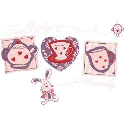 cute_tea_party_romantic_greeting_card.jpg?height=250&width=250 ...