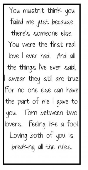 - Torn Between Two Lovers - song lyrics, music lyrics, song quotes ...