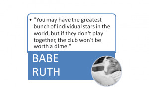 Teamwork Quotes For Employees Babe ruth on teamwork!