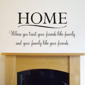 Room Wall Art Quotes: HOME' Wall quote sticker for bedroom living room ...