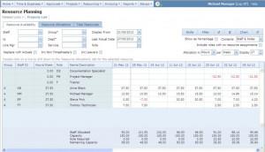 Resource planning screenshot