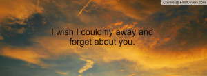 wish I could fly away and forget about Profile Facebook Covers