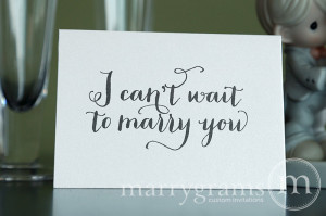 Wedding Card to Your Bride or Groom – I Can't Wait to Marry You ...