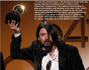 "Dave Grohl General Discussion ""When I think about kids watching a TV ..."