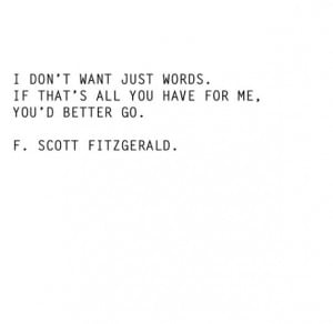 go if that's all you have | fitzgerald