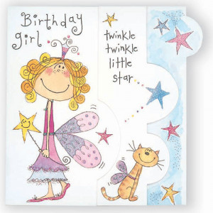 Happy Birthday Fairy Girl Card