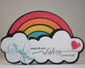 Rainbow Wishes Birthday Card