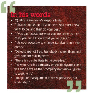 Words of W. Edwards Deming