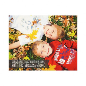 Sibling Bond Quote Wrapped Canvas with Your Photo Stretched Canvas ...