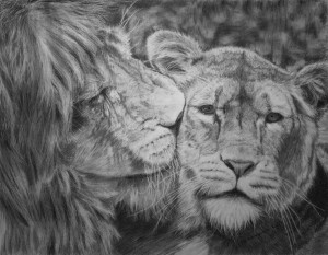 Lions In Love Lion love by martenator