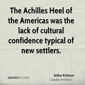 The Achilles Heel of the Americas was the lack of cultural confidence ...