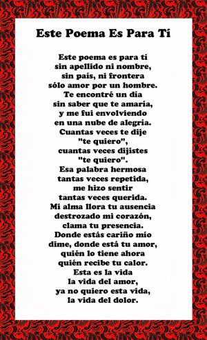 Spanish love poems