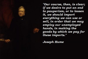 Joseph hume famous quotes 3