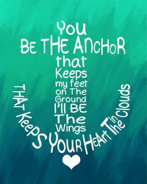 Love this quote and the anchor shape!