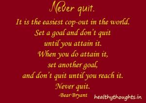 Never Quit-Bear Bryant