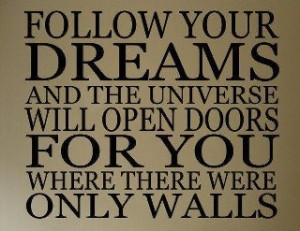 ... so perfect for you lol, it talks about dreams and opening doors haha