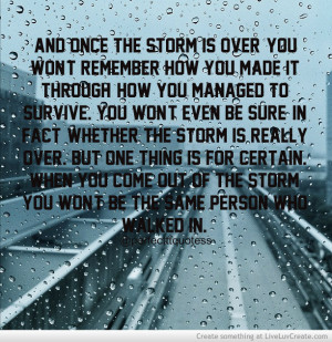 The Storm Quote