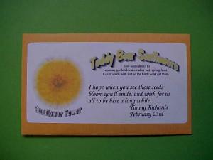 Seed Packet Wedding Favor Sayings