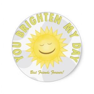 You Brighten My Day: Sunshine Stickers
