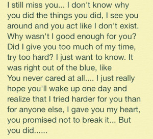 miss you.. I wish you knew