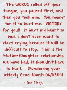 Difficult Mother Daughter Relationships Quotes. QuotesGram