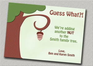 Funny Pregnancy Announcement - 4 Cards with Envelopes - Adding a Nut ...