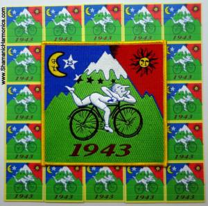 Albert Hofmann bicicleta día Memorial - LSD Blotter Art - hierro ...