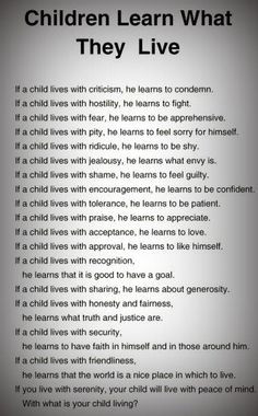 Very true. How are YOU raising your children? I know I need to work on ...