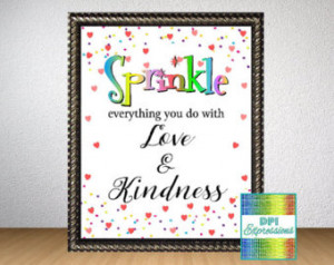 Kindness Quote Art Print, Sprinkles Kitchen Wall Art, Printable Quote ...