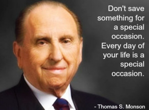 Thomas Monson - Prophet of God and Current President of The Church ...