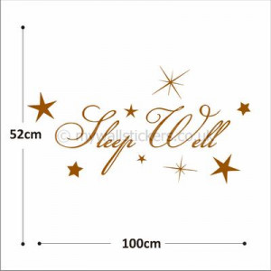 sleep well wall sticker