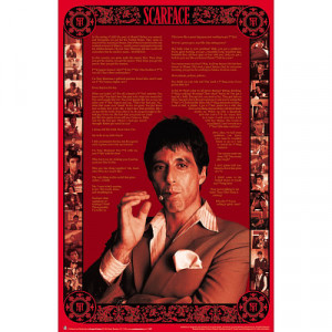 Details about Scarface Quotes MOVIE POSTER Al Pacino Tony Montana