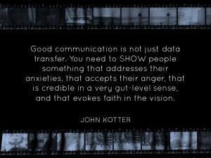 Presentation slide-John Kotter quote