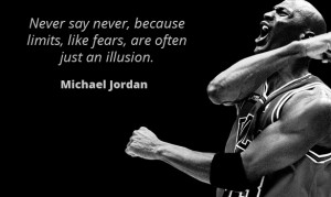 If anyone knows about pushing limits then Michael Jordan is your man ...
