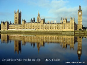 The Inspiration Series – London, England, Quote By J.R.R. Tolkien