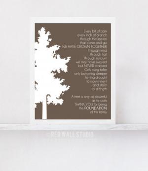 Gift for Grandparents - Family Tree Art Print Poem - Gift for Grandma ...