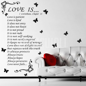 Home » Love is - Quotes - Wall Decals Stickers