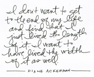 diane ackerman quote