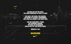 Nike Tennis / US Open 2013! Embrace it all. #NOEXCUSES