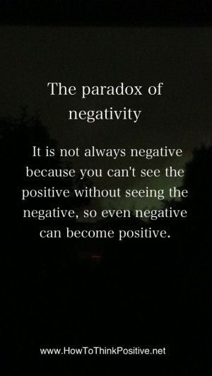 of Negativity. So there negative Nelly. Put your big girl pants ...