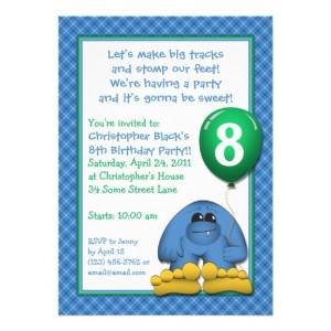 Bigfoot Kids Birthday Party Invitation from Zazzle.com