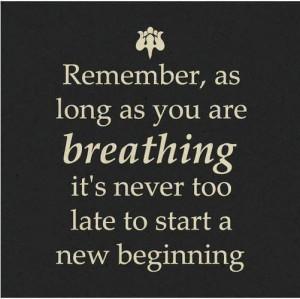 Start a new beginning