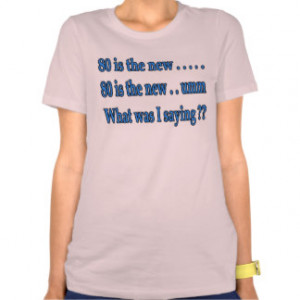 Funny 80th Birthday Present - What Was I Saying? T-shirts