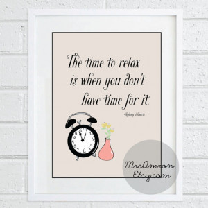 Time To Relax Quote Print 8x10 - inspirational print / quote print ...