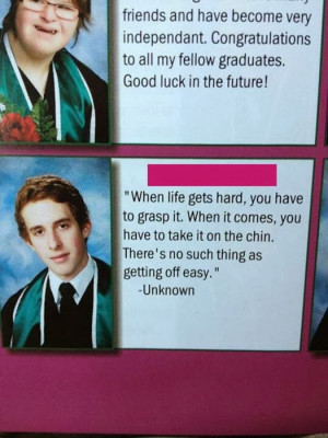 Selection of funny and smart yearbook quotes.
